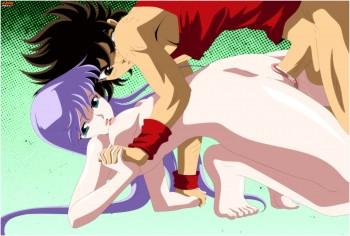 Seiya and Athena - pussy goddess